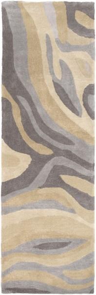 Pigments Gray Charcoal Gold Butter Polyester Viscose Runner - 30 x 96 PGM3005-268