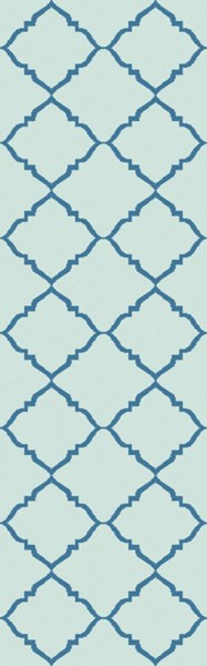 Picnic Contemporary Teal Mint PVC Hand Woven Runner 2025-VAR1