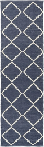 Picnic Contemporary Ivory Navy PVC Runner PIC4001-268