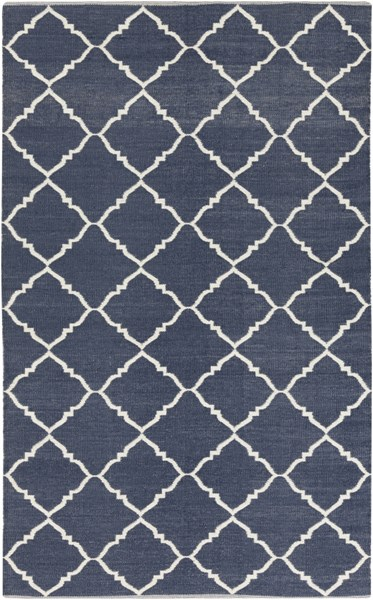 Picnic Contemporary Ivory Navy PVC Hand Woven Area Rug PIC4001-58
