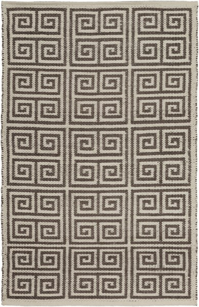Picnic Contemporary Olive Ivory PVC Area Rug (L 36 X W 24) PIC4004-23