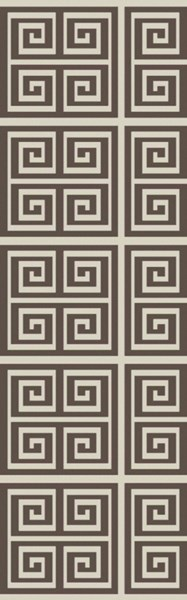 Picnic Contemporary Olive Ivory PVC Runner PIC4004-268