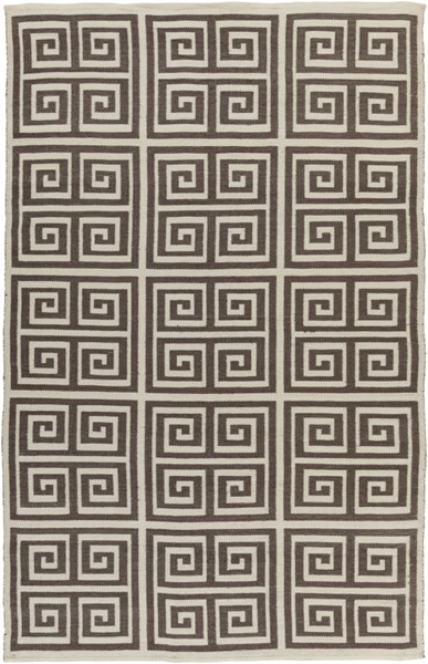 Picnic Contemporary Olive Ivory PVC Rectangle Area Rug PIC4004-58