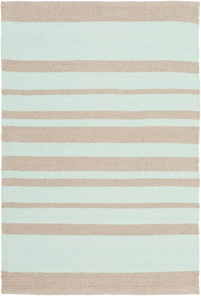Picnic Contemporary Mint Taupe PVC Striped Area Rug PIC4006-23