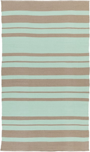 Picnic Contemporary Mint Taupe PVC Area Rug (L 96 X W 60) PIC4006-58