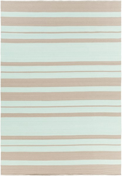 Picnic Contemporary Mint Taupe PVC Rectangle Area Rug PIC4006-811