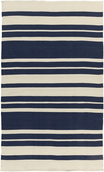 Picnic Contemporary Navy Ivory PVC Hand Woven Area Rug PIC4007-58