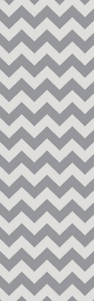 Picnic Contemporary Gray Ivory PVC Runner PIC4008-268