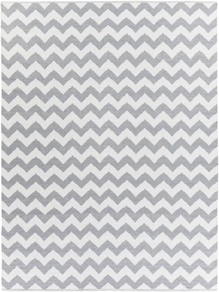 Picnic Contemporary Gray Ivory PVC Rectangle Area Rug PIC4008-811