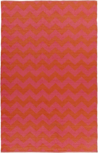 Picnic Hot Pink Tangerine PVC Area Rug - 60 x 96 PIC4009-58