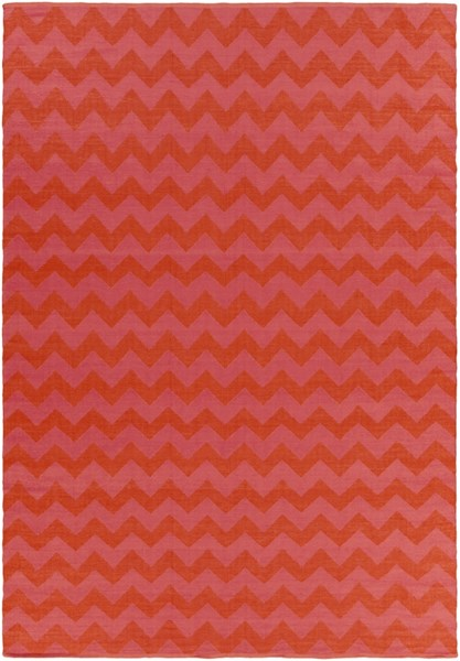 Picnic Hot Pink Tangerine PVC Area Rug - 96 x 132 PIC4009-811
