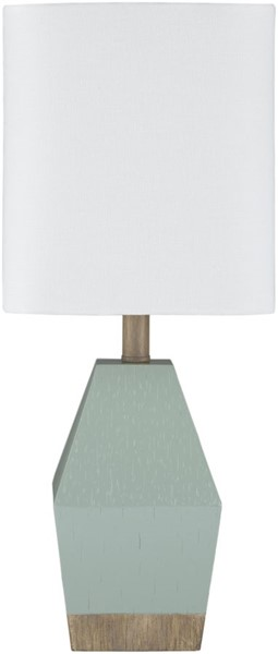 Surya Pimm Aqua Linen Table Lamp - 7x17.37 PIM-002
