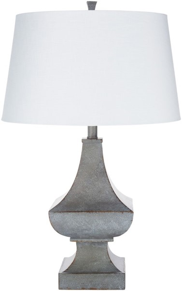 Surya Pinkston White Linen Table Lamp - 17x27.50 PKS-001