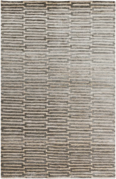 Surya Platinum Dark Brown Khaki Wheat Viscose Area Rug - 96x60 PLAT9000-58