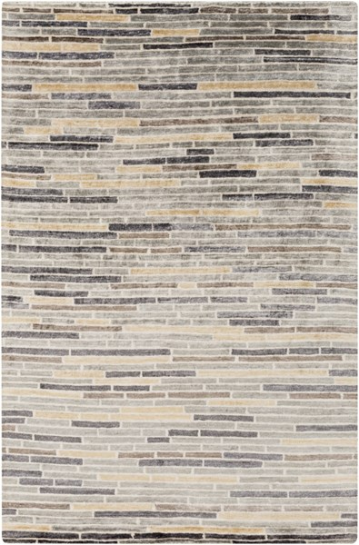 Platinum Gray Taupe Beige Butter Ivory Viscose Area Rug - 60 x 96 PLAT9009-58