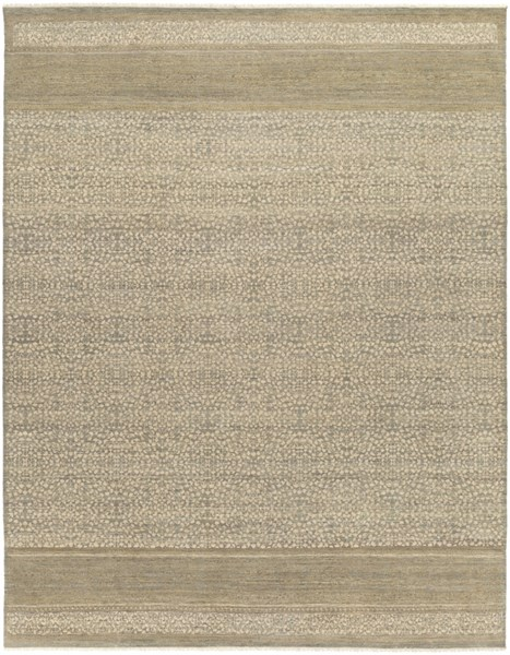 Palace Contemporary Olive Beige Taupe Wool Area Rug (L 120 X W 96) PLC1001-810