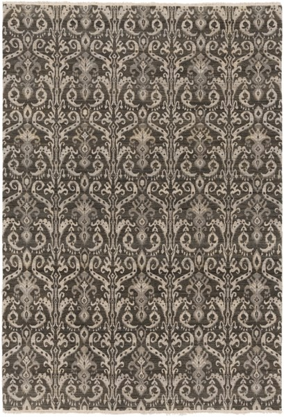 Palace Contemporary Moss Olive Wool Hand Knotted Area Rug 1882-VAR1
