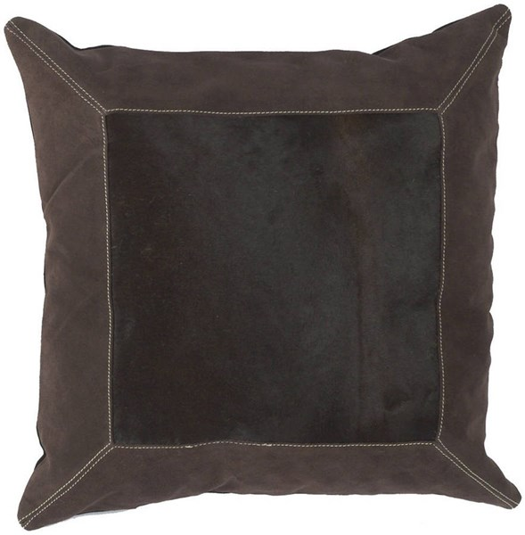 Surya Black Beige Fabric Square Pillow Kits PMH121-VAR