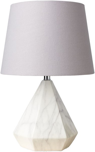 Surya Posh Light Gray Ceramic Table Lamp - 11x17 POS-100
