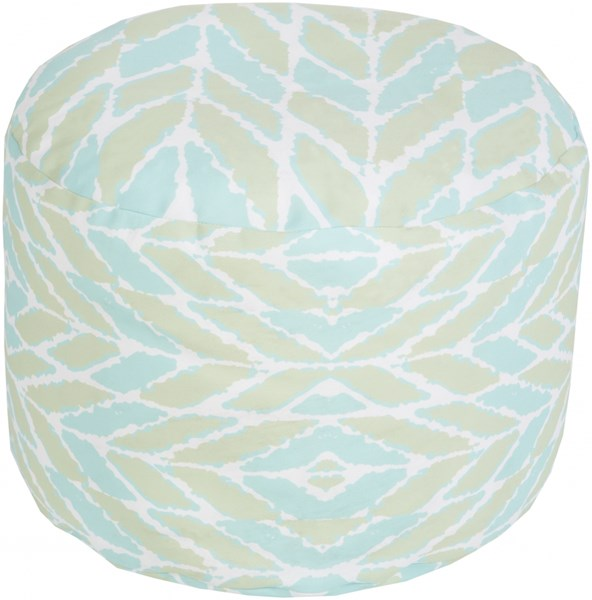 Surya Contemporary Mint Polyester Cushion Poufs 14021-VAR1