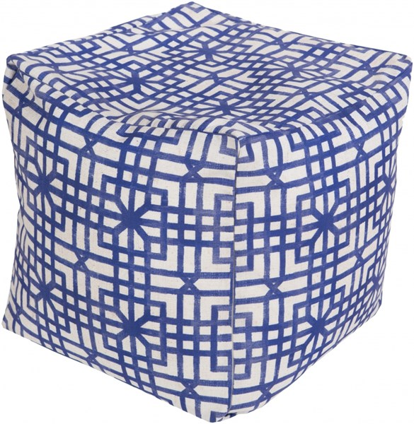 Surya Contemporary Iris Light Gray Polyester Pouf (L 18 X W 18 X H 18) POUF-285
