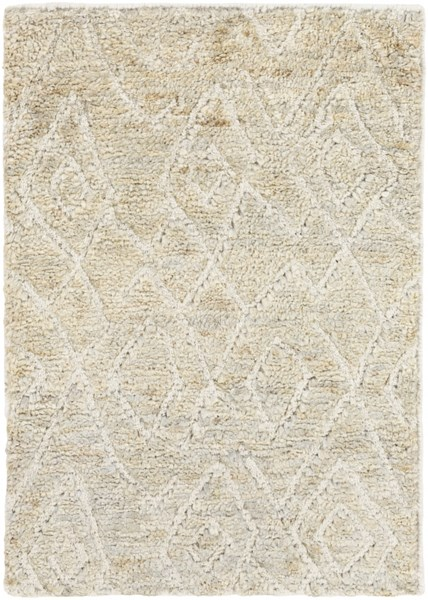 Papyrus Contemporary Light Gray Ivory Forest Jute Wool Rugs 14855-VAR1