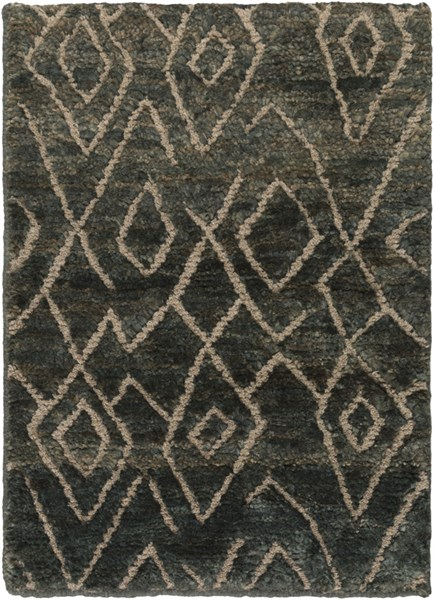 Papyrus Forest Olive Jute Wool Area Rug - 24 x 36 PPY4909-23