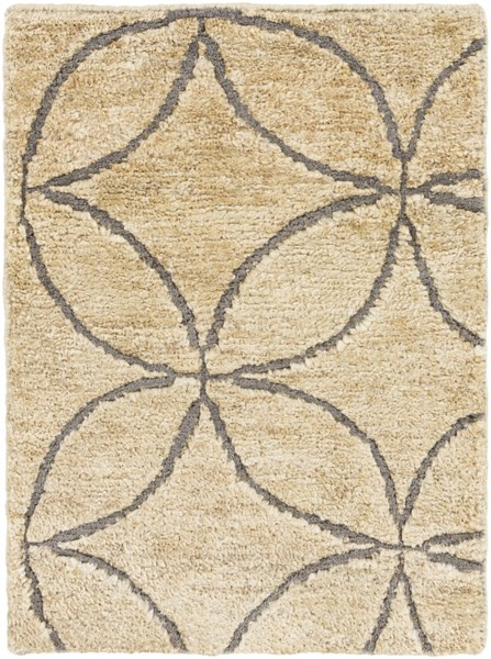 Papyrus Gray Beige Jute Wool Area Rug - 24 x 36 PPY4910-23