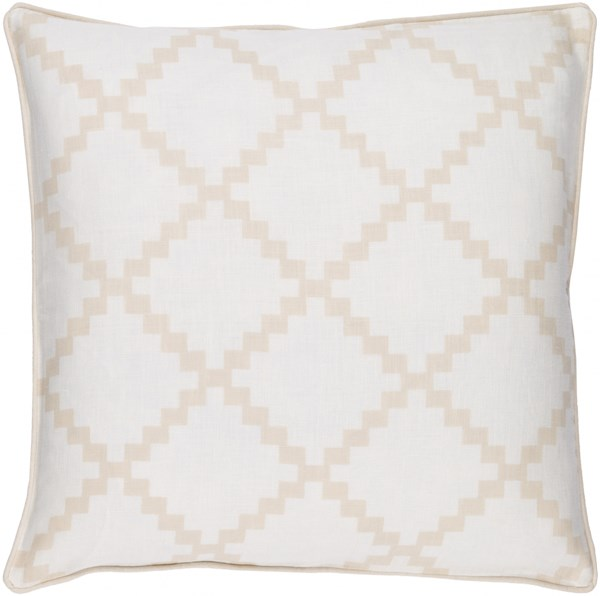 Parsons Modern Ivory Beige Taupe Fabric Throw Pillows 13516-VAR1