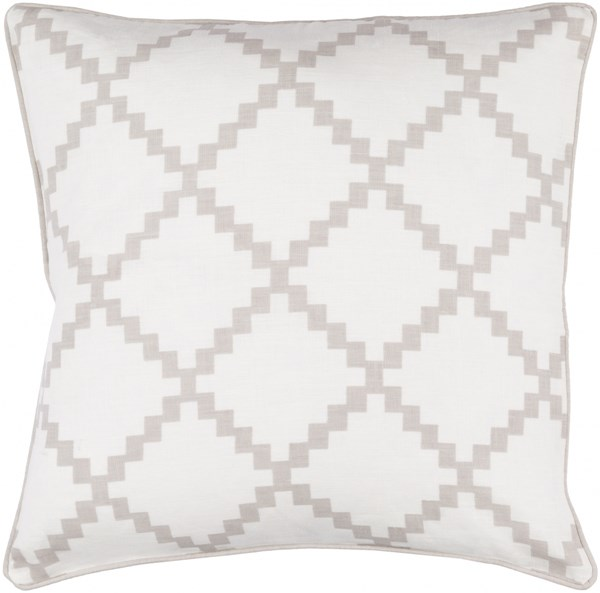 Parsons Pillow with Poly Fill in Taupe - 22 x 22 x 5 PR002-2222P