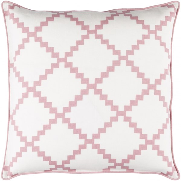 Parsons Pillow with Down Fill in Salmon - 22 x 22 x 5 PR006-2222D