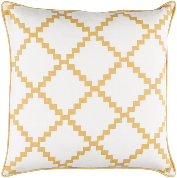 Parsons Pillow with Down Fill in Gold - 18 x 18 x 4 PR007-1818D