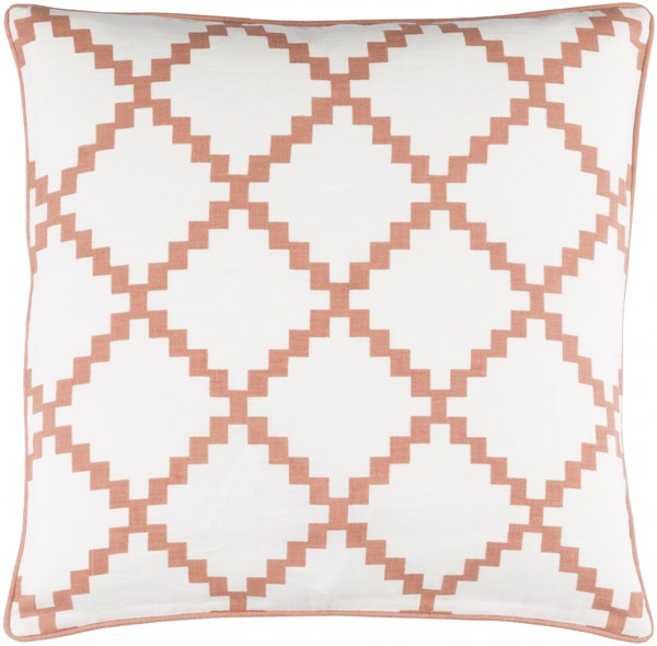Parsons Pillow with Poly Fill in Rust - 22 x 22 x 5 PR008-2222P