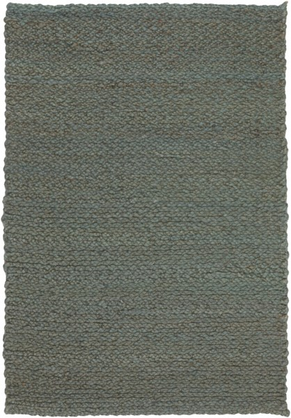 Paradise Contemporary Teal Fabric Area Rug (L 36 X W 24) PRD4000-23