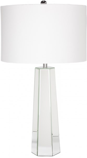 Perry Mirror Glass Linen Table Lamp - 16x28.5 PRLP-002