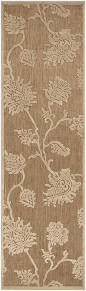Portera Contemporary Beige Ivory Olefin Rugs 1536-VAR1