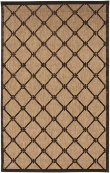 Portera Contemporary Mocha Chocolate Fabric Area Rug (L 90 X W 60) PRT1025-576