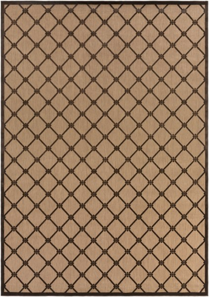Portera Contemporary Mocha Chocolate Fabric Area Rug (L 144 X W 104) PRT1025-8812