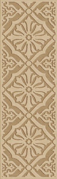 Portera Contemporary Gold Olive Rust Olefin Rugs 12618-VAR1