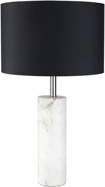 Surya Prelude Black Marble Table Lamp - 14x25 PRU-003