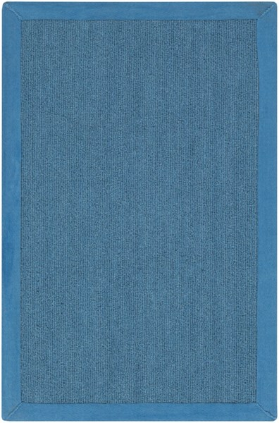Perry Contemporary Teal Wool Tone On Tone Area Rug (L 36 X W 24) PRY9002-23