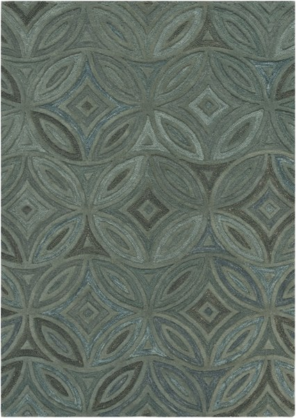 Perspective Forest Moss Wool Area Rug - 60 x 96 PSV33-58