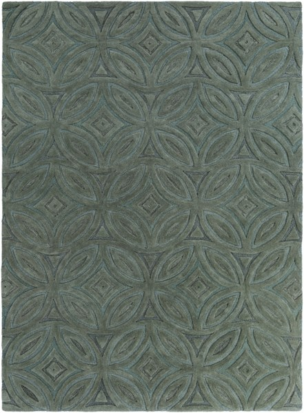 Perspective Forest Moss Wool Area Rug - 96 x 132 PSV33-811