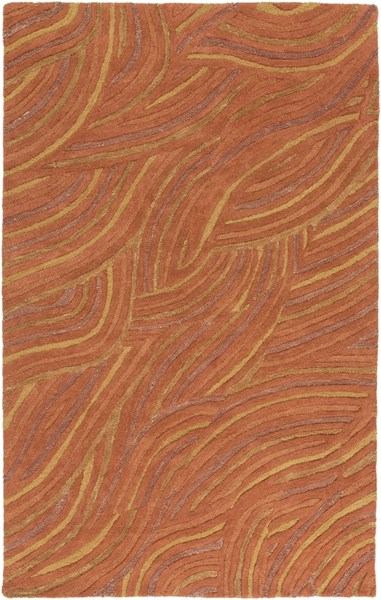 Perspective Rust Gold Wool Area Rug - 60 x 96 PSV37-58