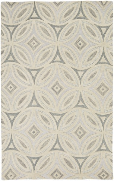 Perspective Beige Light Gray Wool Area Rug - 60 x 96 PSV41-58