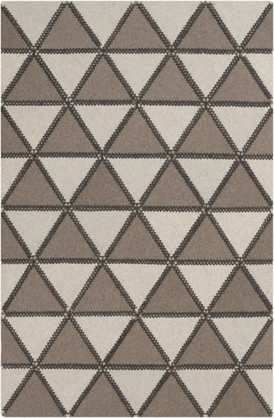 Patch Modern Taupe Ivory Charcoal Felted Wool Rugs 12761-VAR1