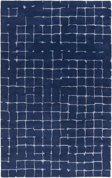 Pursuit Modern Navy Gray Fabric Hand Tufted Area Rug PUT6004-58