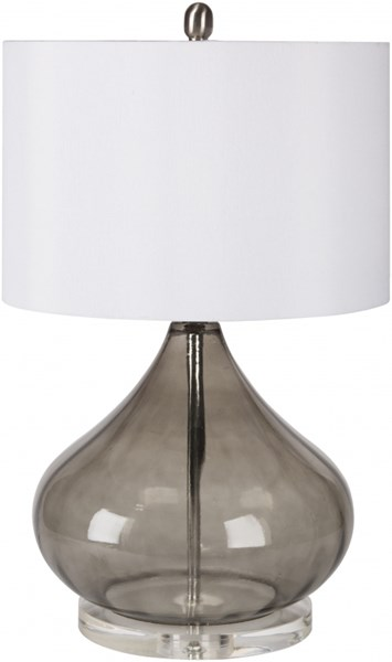Pyrus Contemporary Smoke Blue Glass Acrylic Faux Silk Table Lamps 13867-VAR1
