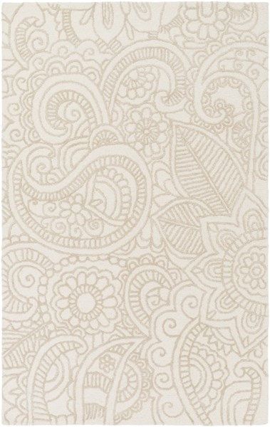 Queensland Ivory Viscose Wool Area Rug - 60 x 90 QSL1000-576