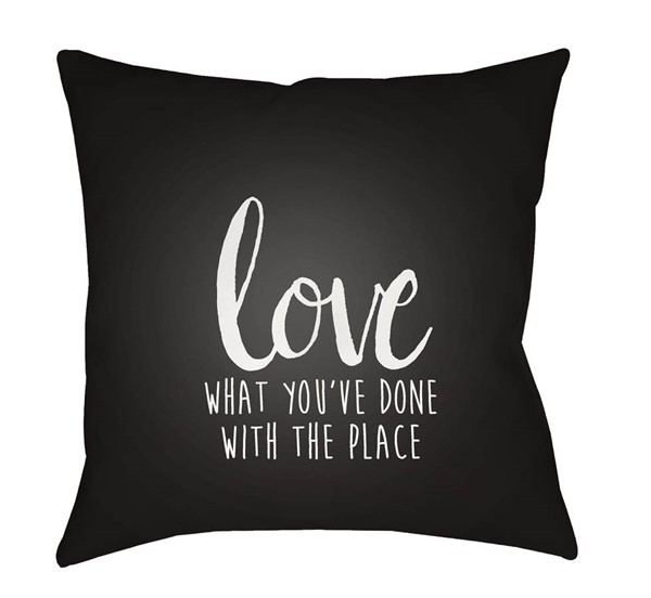 Surya Love The Place Umber White Pillow Cover - 18x18 QTE050-1818
